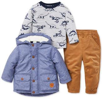 Little Me Baby Boys 3-Pc. Jacket, Top & Pants Set