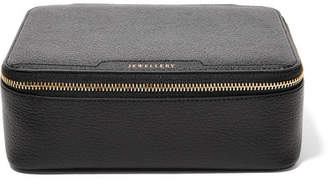 Anya Hindmarch Textured-leather Jewelry Case - Black