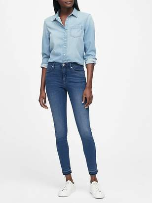 Banana Republic High-Rise Legging Luxe Sculpt Jean with Fray Hem