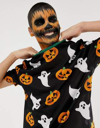 Asos DESIGN Halloween relaxed t-shirt with all over ghost and pumpkin print