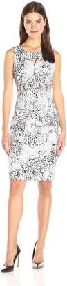 Calvin Klein Women's Printed Sheath Dress with Hardware