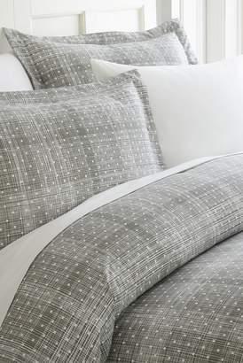 IENJOY HOME Home Spun Premium Ultra Soft Polka Dot Pattern 3-Piece Duvet Cover Queen Set - Gray