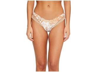 Luli Fama Amor Tobaco Y Ron Mesh High Leg Brazilian Bikini Bottom Women's Swimwear