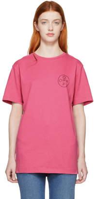 Off-White SSENSE Exclusive Pink Cross Slim T-Shirt