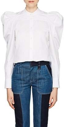 Chloé Women's Cotton Puff-Sleeve Blouse - White