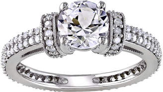 MODERN BRIDE CT. T.W. Diamond & Lab-Created White Sapphire Engagement Ring