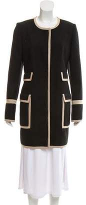 LK Bennett Crew Neck Knee-Length Coat