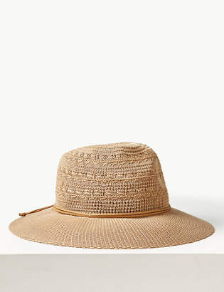 M S CollectionMarks and Spencer Soft Fedora Hat df3b388b2e78