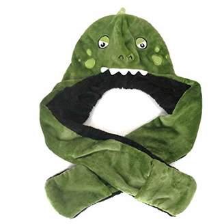 accsa Winter Kids Boy Novelty Dinosaur 3D Hat Hoods Gloves Scarf Claws (6-14Y)