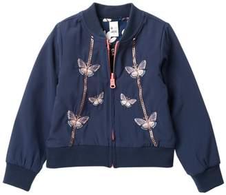 Petit Lem Reversible Knit Jacket (Toddler & Little Girls)