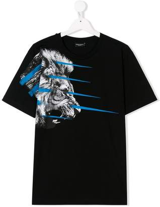 Marcelo Burlon County of Milan Kids TEEN lion print T-shirt