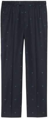 Gucci Symbols wool jacquard trousers