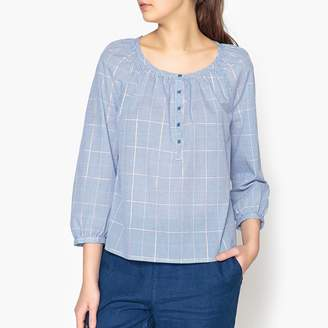 Harris Wilson Limonade Loose Fit Blouse with Iridescent Checked Print