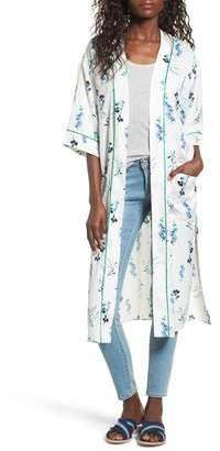 Vigoss Floral Print Duster Kimono $59 thestylecure.com