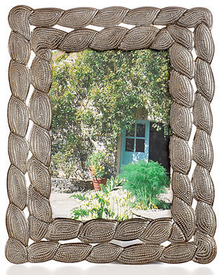 "Heart of Haiti Picture Frame, Coral 5"" x 7"""