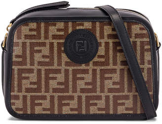 Fendi Tess Camera Crossbody Bag in Black & Brown | FWRD
