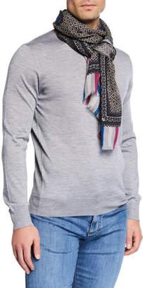 Etro Men's Diamond-Pattern Cashmere Scarf