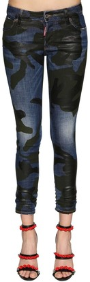 DSQUARED2 Runway Straight Cropped Denim Jeans