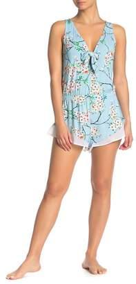 Cosabella Cadence Blossom Print Tie Pajama Romper