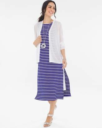 Chico's Chicos Striped Double-Layer Dress