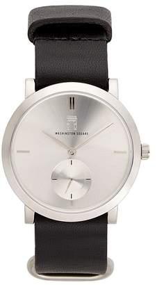 Washington Square Watches Women's Quartz Leather Strap Watch, 38mm