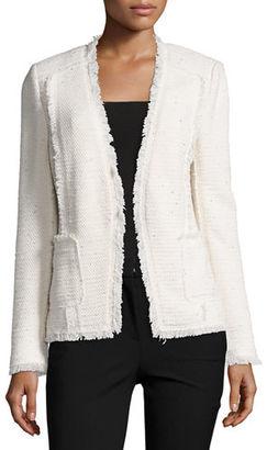 Rebecca Taylor Sparkle Tweed Open-Front Blazer $395 thestylecure.com