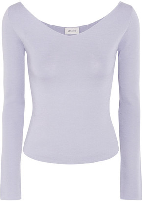 Cotton And Silk-blend Sweater - Lilac