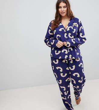 Asos Rainbow Pot Of Gold Long Leg Pyjama