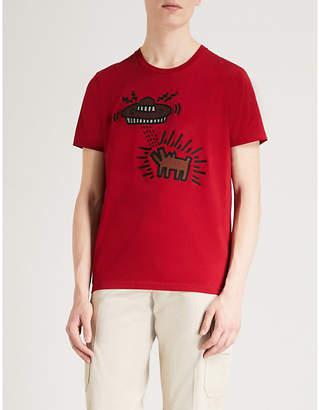 Keith Haring Coach 1941 Coach X UFO Dog cotton T-shirt