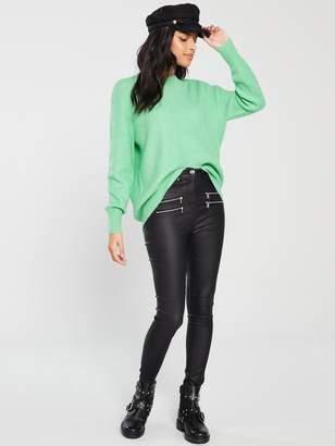 Very Curved Hem Jumper - Green