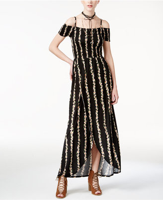 American Rag Juniors' Cold-Shoulder Maxi Dress, Only at Macy's $69.50 thestylecure.com
