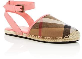 Burberry Girls' New Perth Ankle Strap Espadrille Sandals - Toddler, Little Kid, Big Kid
