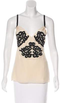 Temperley London Embroidered Sleeveless Top