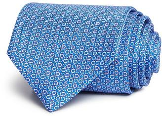 Salvatore Ferragamo Tight Micro Alternating Gancini Classic Tie $190 thestylecure.com