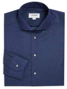 Eton Slim-Fit Polka Dot Dress Shirt