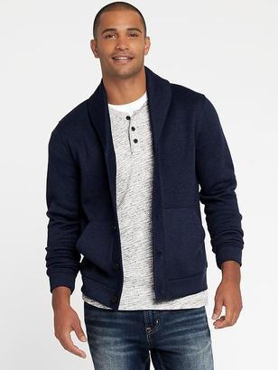 Shawl-Collar Sweater-Knit Fleece Cardigan for Men $44.99 thestylecure.com