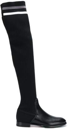 Santoni knee-length fitted boots