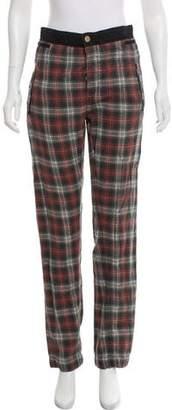 Etoile Isabel Marant Plaid Mid- Rise Cropped Pants