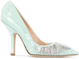Midnight 00 embellished pointed pumps