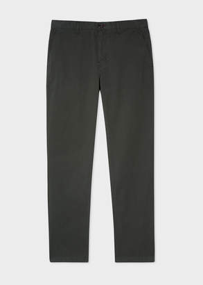 Paul Smith Men's Tapered-Fit Dark Green Stretch Pima-Cotton Chinos