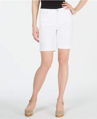 Charter Club Petite Tummy-Control Cuffed Shorts