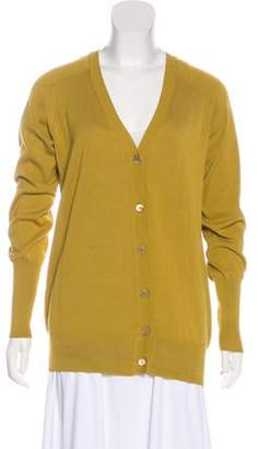 Marni Lightweight Knit Button-Up Cardigan Yellow Lightweight Knit Button-Up Cardigan