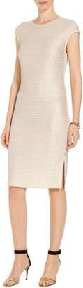 St. John Glimmer Sequin Knit Dress