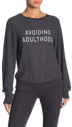 Wildfox Couture Avoiding Adulthood Baggy Sweater