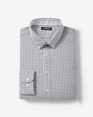 Express Extra Slim Fit Plaid Performance Shirt