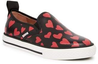 RED Valentino Heart Print Slip-On Sneaker