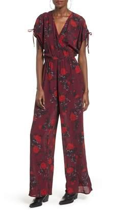 Band of Gypsies Morgan Rose Print Jumpsuit
