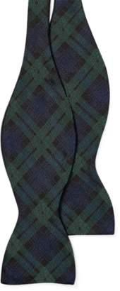 Ralph Lauren Skull-Tartan Wool Bow Tie