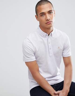 Farah Merriweather slim fit polo in lilac
