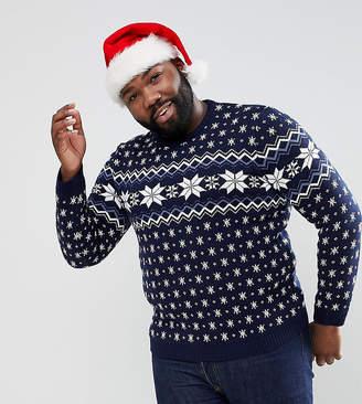 Asos DESIGN PLUS Holidays Sweater With Snowflake Design